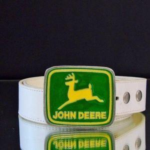 Paul Frank JOHN DEERE Vintage Green Belt Buckle